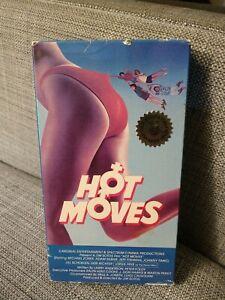 Hot Moves VHS Vestron Rare Monique Gabrielle Jill Schoelen Cult Sleaze HTF
