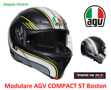 Casco Modulare AGV COMPACT ST Boston Matt Black/Grey/Yellow Taglia XL 61 cm