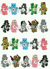 Care bears Nail decals! (Water Transfer decals) Scare Bears Nail Decals