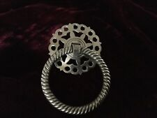 Antique Solid Brass Ring Pull, Handle , Knob #13