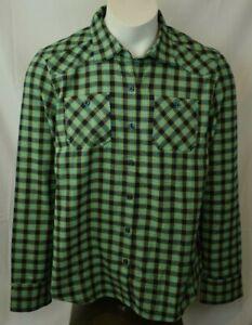 Oakley - Biscay Green Plaid Woodland Long Sleeve Men's Dress Shirt - New (L) NWT