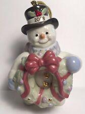 "Lenox 2008 Ornament ""Snowman Wreath Ornament"""