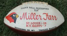 NFL Game Presentation Ball Miller Far St Louis Cardinals NY Giants 1971 Yankee S
