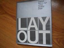 LAYOUT:  The Design of the Printed Page - Hurlburt - 1977   HC/DJ