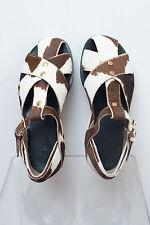 Marni calf hair flat Sandals Size 7.5 US/ Eu 37.5 New with box