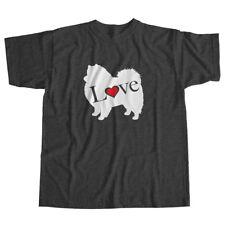 I Love American Eskimo German Spitz Eskie Dog Pet Lover Puppy Unisex Tee T-Shirt