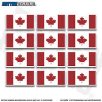 "Canada Flag 2"" Sticker Decal 12 Pack Canadian Canuck Maple Leaf V3 ZU1"