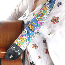 Guitar Strap Personalised Electric Bass Guiter Adjustable Nylon Cartoon Straps