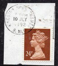 GB = QE2 Postmark - `KINGSTON UPON THAMES / B. MLO` 1992 Single Ring cancel.