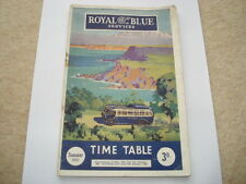 SUMMER 1951 ROYAL BLUE TIMETABLE