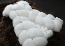 LUXURY Women's Faux Fur Vest Jacket Sleeveless Body Warm Coat Waistcoat Outwear