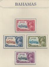 BAHAMAS # 92-95 MHG CORONATION SILVER JUBILEE OF KING GEORGE V