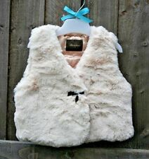 NEW Baby Girl Faux Fur Gilet Jacket Romany 18-24 Months
