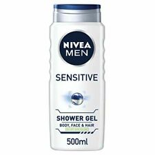 NIVEA MEN Sensitive Shower Gel Pack of 6 (6 x 500ml), Alcohol-Free Sensitive
