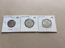 3 pieces Portugal  1977 cent.  mort d'Alexandre Herculano de 2,5 - 5 et 25 esc.