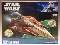 New Star Wars Obi Wan Kenobi Jedi Starfighter Clone Wars Collection Ship CW MISB