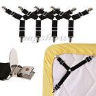 4PCS Triangle Bed Mattress Sheet Clip Grippers Straps Suspender Fastener Holder