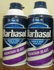 2x Barbasol Thick & Rich Shaving Cream mountain blast 10 oz