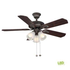 Glendale 42 in. Indoor Ceiling Fan w/ 5 Blades LED Light Kit Oil-Rubbed Bronze