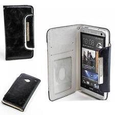 Numia Klapp Handy Tasche HTC One (M7) Schwarz Weiss Schutz Hülle BOOK-STYLE Case