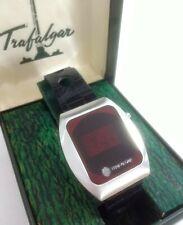 TRAFALGAR 70s LED Vintage Digital Original + Box Mens Solid State.