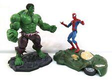 Marvel Select SPIDER-MAN vs INCREDIBLE HULK Figure Lot Diamond