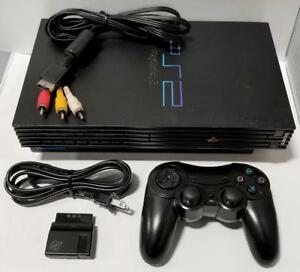 SONY PlayStation 2 Original Black PS2 Gaming System Bundle SCPH-39001 Console