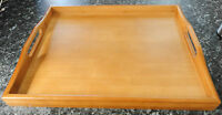 40CM*30CM NEW STYLISH WOOD WOODEN BREAKFAST SERVING BED TRAY WITH HANDLES