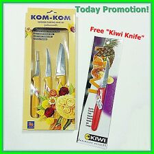 Fruit Carving Knife Set - Thai Carving Knife  -  Kom Kom Fruit Carving Knife Set