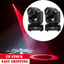 1Pair RGBW Spot Gobo LED Stage Lights Moving Head DMX Disco DJ Party Lighting