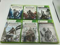 Microsoft Xbox 360 Tested Assassin's Creed 1 2 3 4 Revelations Brotherhood LOT