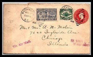 GP GOLDPATH: US POSTAL STATIONARY 1925, WASHINGTON, DC. AIR MAIL _CV683_P17