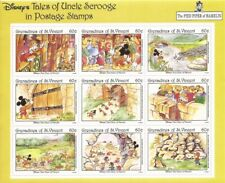 St Vincent Grenadines - 1992 Disney Pied Piper - 9 Stamp Sheet 19J-020