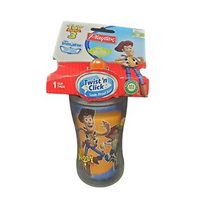 Playtex Twist N Click Sippy Sippie Cup Disney Toy Story 3 Insulator Spill Proof