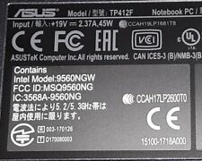 ASUS NOTEBOOK PC MODEL