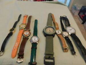 VTG lot of 8 Watches Venice,Timetech,Jean Paul,Sprout, Futura