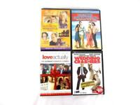 Lot of 4 Romantic Comedy Drama DVD Movies Love Actually Wedding Crashers