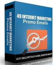 49 Done For You Promo Emails eBooks + With Master Resell Rights!  Free Shipping!