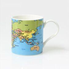 Fine China World Map Atlas Tea Coffee Mug Cup Educational Gift Mug In Box