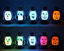 Portable Halloween Party Hanging Decor Skull Ghost Flash LED Night Light Lantern