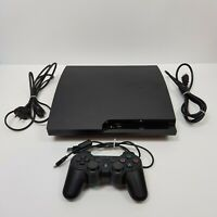 SONY Playstation 3 PS3 Black Slim Console 160Gb + Wireless Controller