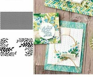 Greenery Embossing Folder For Scrapbooking DIY Template Fondant Cake Card Make