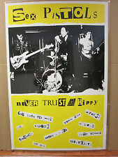 Vintage Sex Pistols poster punk rock band music artist 5866