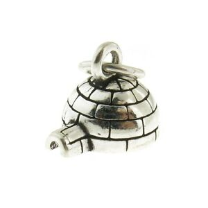 925 Sterling Silver Igloo Charm Made in USA