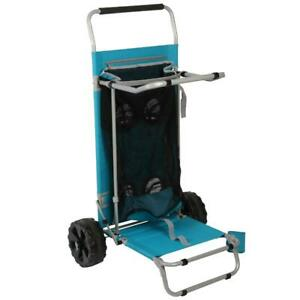 Ozark Trail Sand Island Convertible Beach Cart, Blue, Outdoor Camping Wagon,