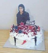 MICHAEL JACKSON edible 3D cake scene decoration set stand up toppers