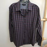 Ted Baker Mens Striped Button Down Shirt French Cuff MultiColor Size 5 XL