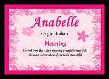 Anabelle Personalised Name Meaning Placemat