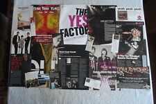 YEAH YEAH YEAHS- MAGAZINE CUTTINGS COLLECTION - CLIPPINGS, ARTICLES, PHOTOS X31.