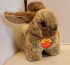 Original Steiff Snuffi Snuffy Brown Bunny Rabbit wButton, Tag name & Bow